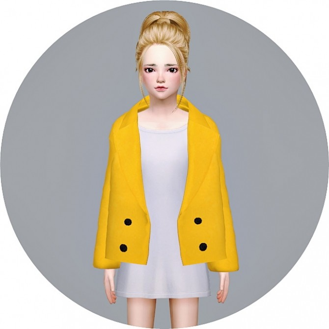 Sims 4 Child ACC Winter Coat v1 single colors at Marigold