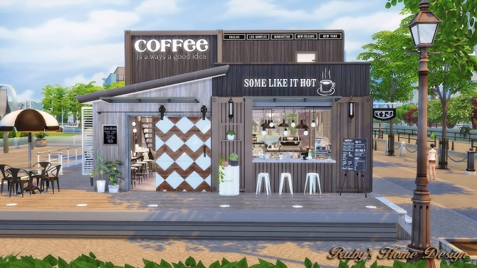 Container Coffee Shop At Ruby S Home Design 187 Sims 4 Updates