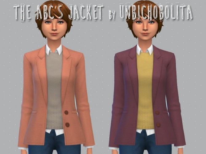 The ABCs jacket at Un bichobolita image 1647 670x503 Sims 4 Updates