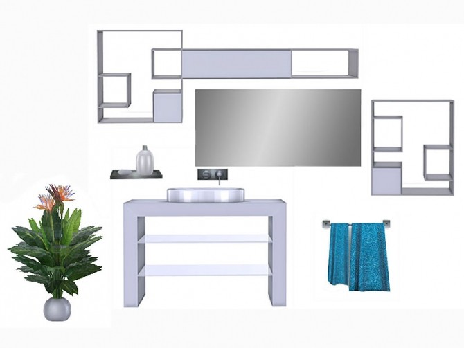 Sims 4 System Bathroom by Pilar at SimControl