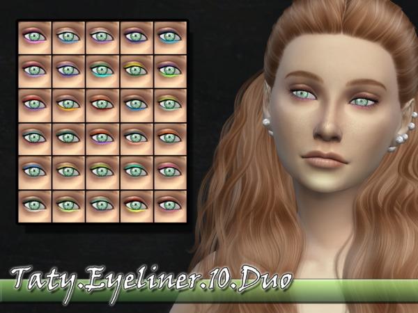 Sims 4 Taty Eyeliner 10 Duo by tatygagg at TSR