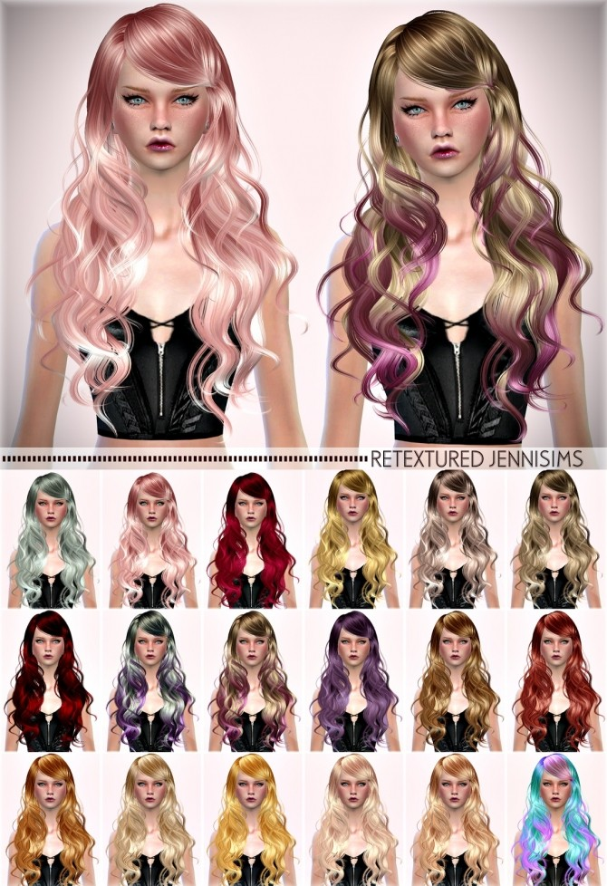 Sims 4 Newsea Sparklers Hair retexture at Jenni Sims