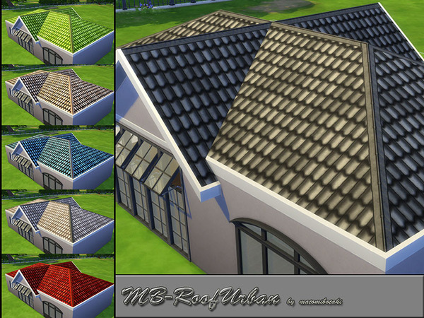 Sims 4 MB Roof Urban by matomibotaki at TSR