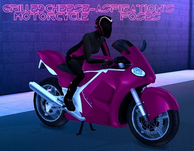 Sims 4 Motorcycle Pose Pack at Grilled Cheese Aspiration