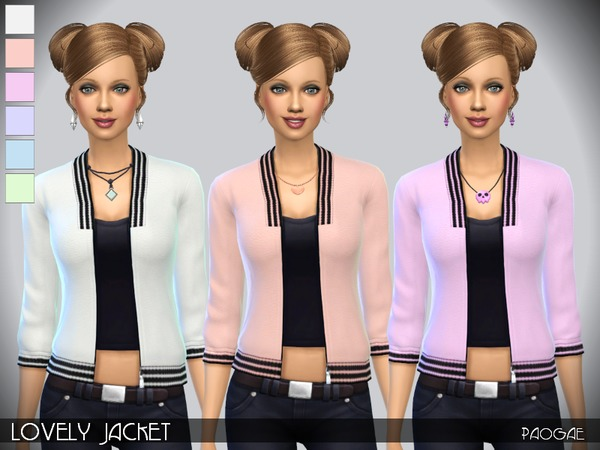 Lovely Jacket by Paogae at TSR image 1715 Sims 4 Updates