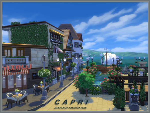Sims 4 Capri house by Danuta720 at TSR