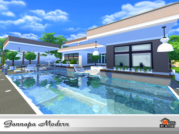 Gannapa Modern house by autaki at TSR image 1720 Sims 4 Updates