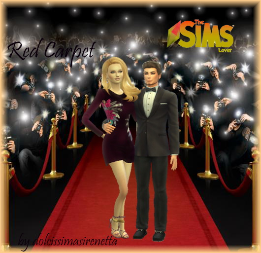 Sims 4 Red Carpet couple pose by dolcissimasirenetta at The Sims Lover