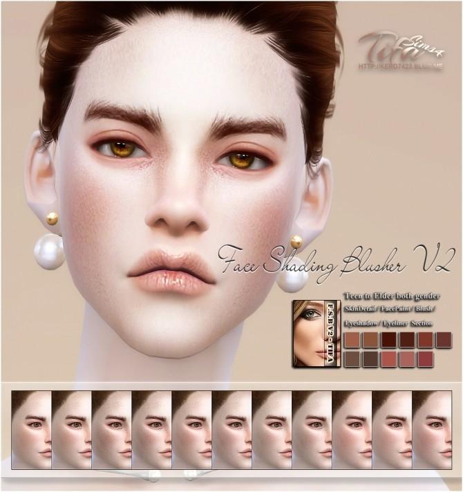 Face Shading Blusher V2 At Tifa Sims 187 Sims 4 Updates