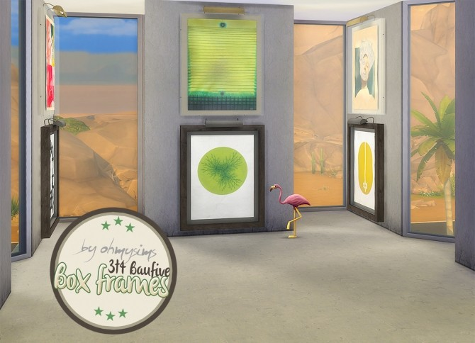 Sims 4 3t4 Baufive Box Frames at Oh My Sims 4