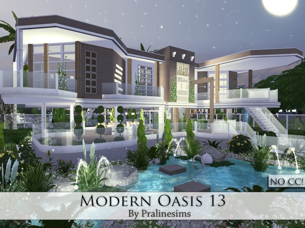 Modern Oasis 13 house by Pralinesims at TSR image 1739 Sims 4 Updates