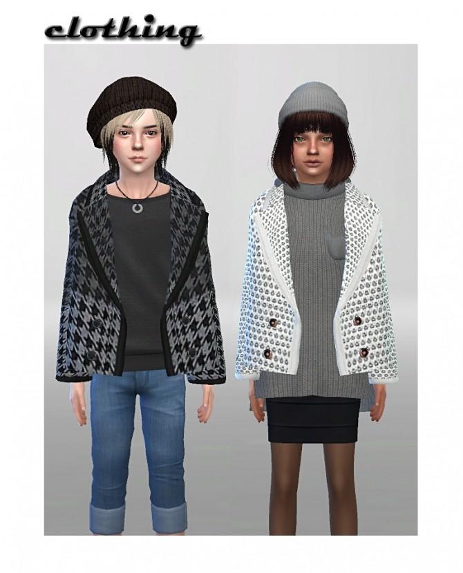 Sims 4 Retextures of Marigolds wintercoat 29 colors/prints at ShojoAngel