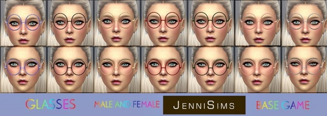 Glasses Collection at Jenni Sims image 1758 670x239 Sims 4 Updates