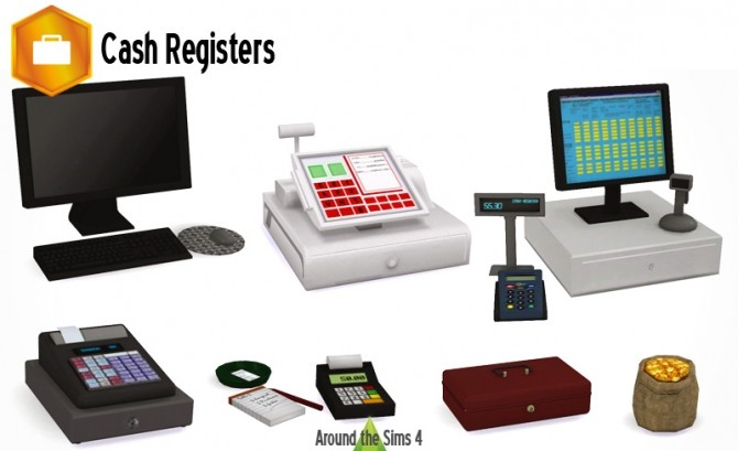 Cash Registers by Sandy at Around the Sims 4 image 1759 670x409 Sims 4 Updates