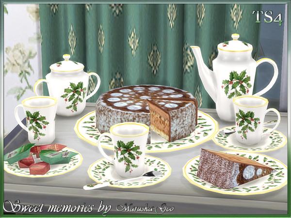 Sims 4 Sweet memories tea set by Maruska Geo at TSR
