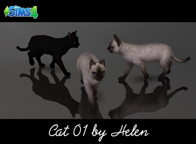 Sims 4 Cats (4 items) at Helen Sims