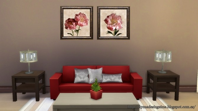 Sims 4 Peony paintings at Kyma Desingsims S4
