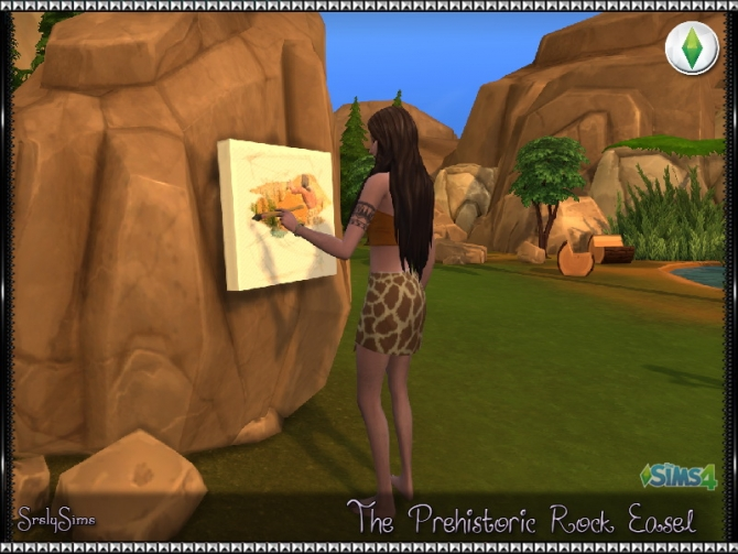 Prehistoric Rock Easel At Srslysims 187 Sims 4 Updates