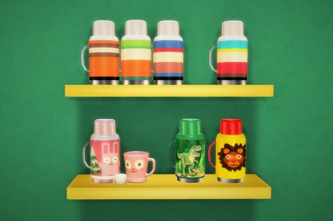 Sims 4 SIMcredibles thermos recolors at Budgie2budgie