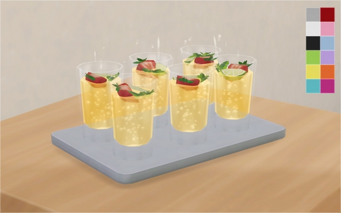 Simple Drink Tray At Veranka 187 Sims 4 Updates