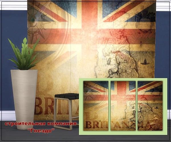 Sims 4 Britain wallpaper at Sims by Mulena