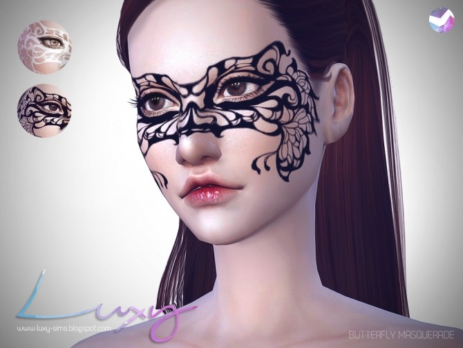 Sims 4 Butterfly Masquerade mask by LuxySims at SimsWorkshop