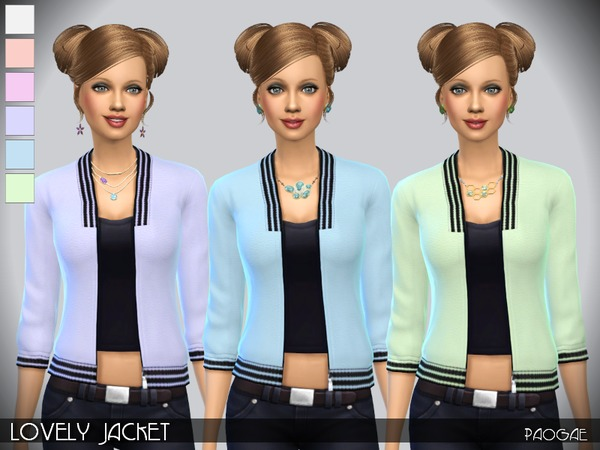 Sims 4 Lovely Jacket by Paogae at TSR