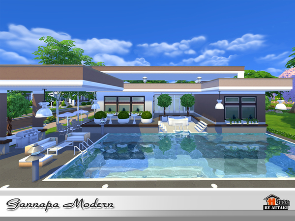 Gannapa Modern house by autaki at TSR image 1820 Sims 4 Updates