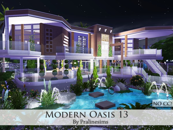 Modern Oasis 13 house by Pralinesims at TSR image 1830 Sims 4 Updates