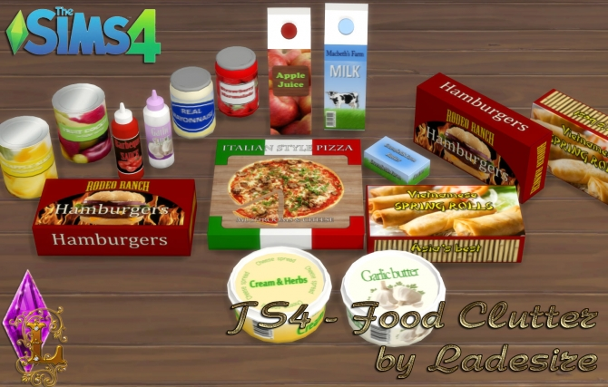 Food Clutter At Ladesire 187 Sims 4 Updates