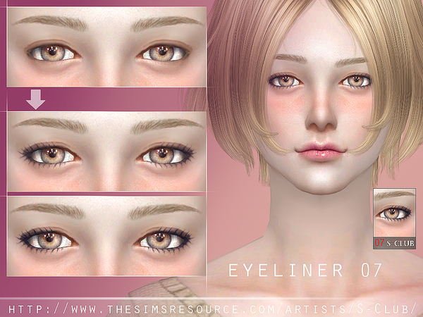 Sims 4 Eyeliner 07 by S Club WM at TSR