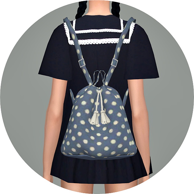 Sims 4 Bucket Backpack V1 at Marigold