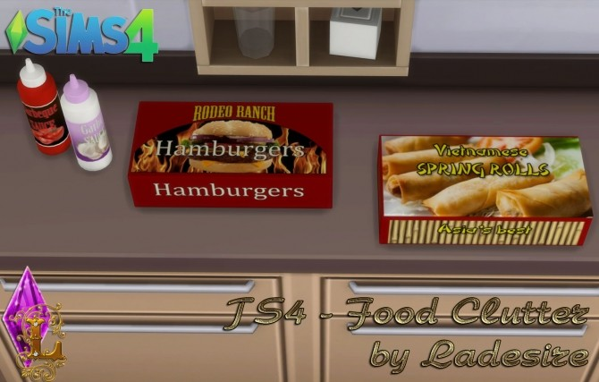Sims 4 Food Clutter at Ladesire