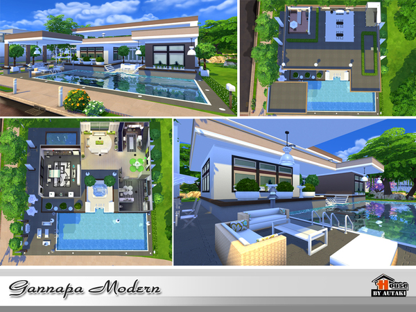 Gannapa Modern house by autaki at TSR image 1919 Sims 4 Updates