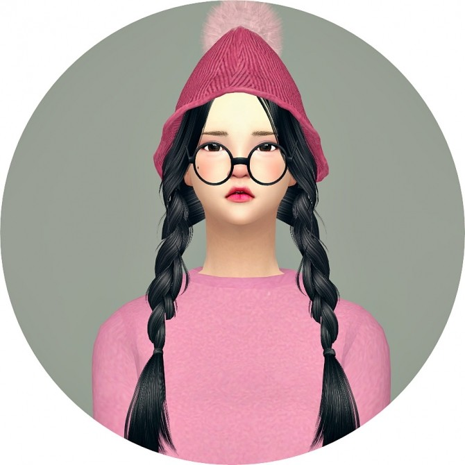 PomPom Knit Cone Beanie at Marigold image 19210 670x670 Sims 4 Updates