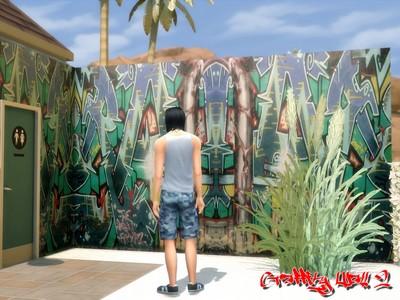 Graffity Walls Set 2 at Nowa24 image 1944 Sims 4 Updates