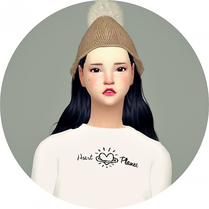 PomPom Knit Cone Beanie at Marigold image 1954 670x670 Sims 4 Updates