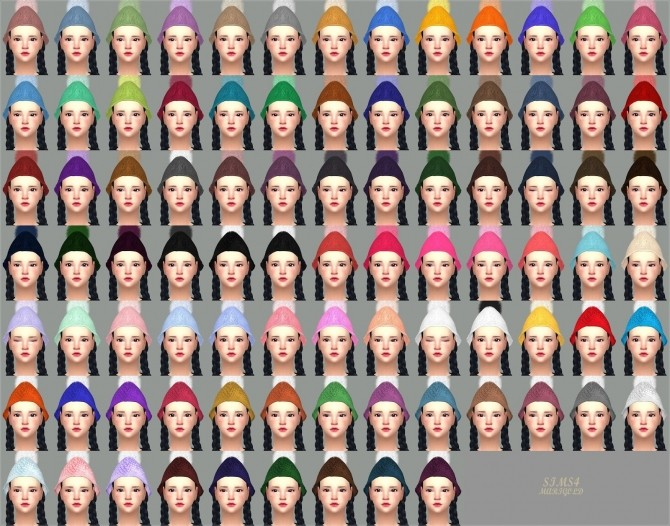 PomPom Knit Cone Beanie at Marigold image 1974 670x526 Sims 4 Updates