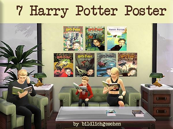 Harry Potter Band 1 7 by Bildlichgesehen at Akisima image 1995 Sims 4 Updates