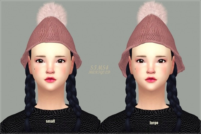 PomPom Knit Cone Beanie at Marigold image 1996 670x447 Sims 4 Updates