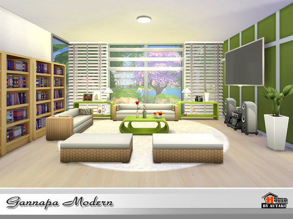 Gannapa Modern house by autaki at TSR image 2018 Sims 4 Updates