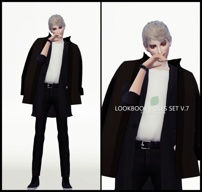 LOOKBOOK V.7 POSES SET at Flower Chamber image 2034 670x637 Sims 4 Updates