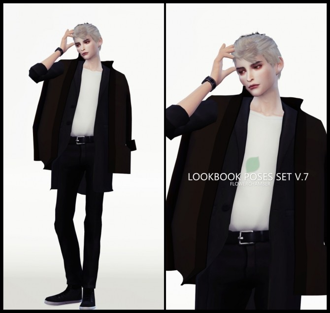 LOOKBOOK V.7 POSES SET at Flower Chamber image 2044 670x637 Sims 4 Updates