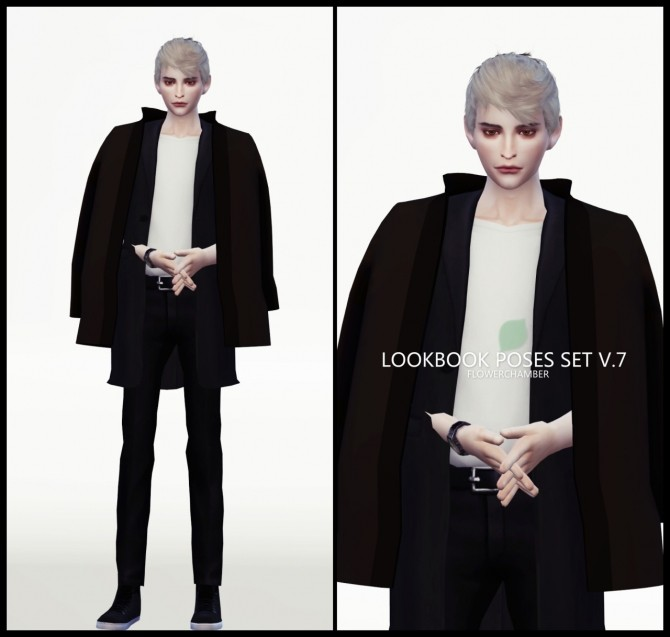 LOOKBOOK V.7 POSES SET at Flower Chamber image 2054 670x637 Sims 4 Updates