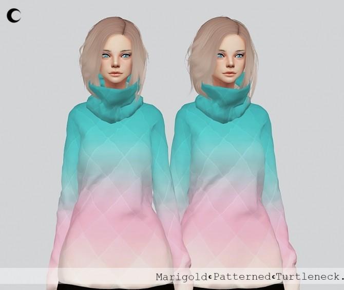 Sims 4 Patterned Turtleneck at Kalewa a