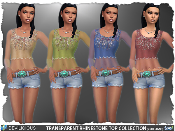Sims 4 Transparent Top Collection by Devilicious at TSR