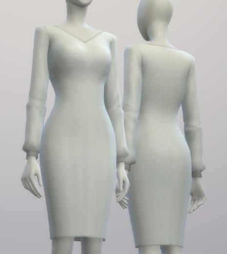 Chiffon blouse dress at Rusty Nail image 210 Sims 4 Updates