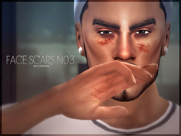 Face Scars N03 by Pralinesims at TSR image 2101 Sims 4 Updates