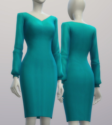 Chiffon blouse dress at Rusty Nail image 211 Sims 4 Updates