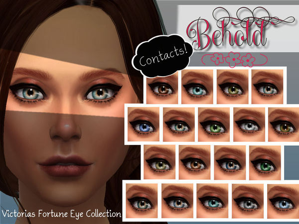 Sims 4 Victorias Fortune Behold Contacts Collection by fortunecookie1 at TSR
